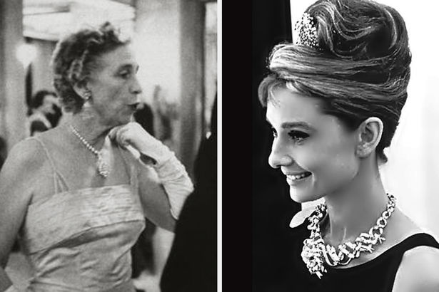 社交名媛 Mrs. Mary Whitehouse(左)和荷里活影星 Audrey Hepburn(右)。