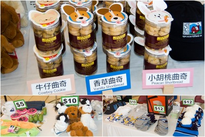 Cookies and SPCA souvenirs for sale at the charity booth.
