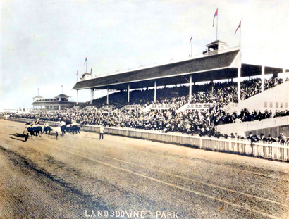 1926 年 Lansdowne Park 賽馬場。(City of Richmond Archives)