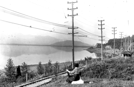 1916 年被抽乾前的 Sumas Lake。(The Reach Gallery Museum Abbotsford)